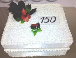"""""""•Kregždutės"""" konditerijos cecho tortas skirtas seniausios Kauno mokyklos - Maironio gimnazijos 150-mečiui"""